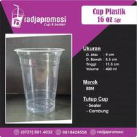 Sablon Cup Gelas Plastik 16 OZ 16OZ BSM 5GR + CUSTOM LOGO