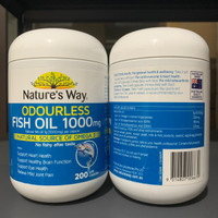 Nature's Way Odourless Fish Oil 1000 mg Natures Way 200 soft capsule
