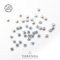 144 PCS Torenda Rhodium Preciosa Montees Cangkang 18SS (Varian Warna)
