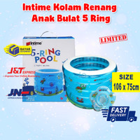Intime Kolam Renang Bayi Anak Bulat 5 Ring - Baby Spa Swimming Pool