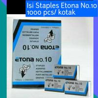 Isi Staples Etona No.10/ Isi Staples Kertas Standard 1000 pcs/kotak