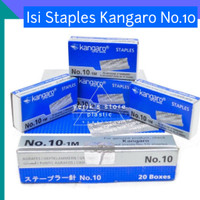 Isi Staples Kangaro No.10/ Isi Staples Kertas Standard 1000 pcs/kotak