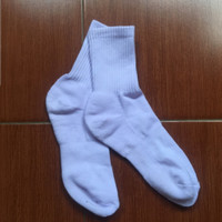 kaos kaki sport olahraga tebal polos pria wanita crew socks pendek