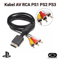 Kabel AV RCA Ke TV PS1 PS 1 PS One PS2 PS 2 PS3 PS 3 Murah