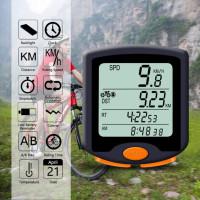 odometer speedometer sepeda digital led backlight wirelless waterproof