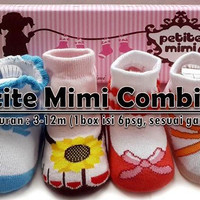 PETITE MIMI COMBI GIRL SHOE SOCKS, KAOS KAKI SEPATU BAYI, jayastore18