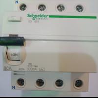 elcb Schneider acti9 iid 4pole 80a a9r14480 300ma 4p