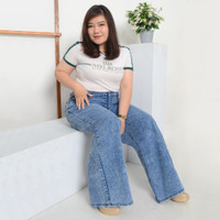 Miss Me Celana Panjang Jeans Wanita Model CUTBRAY JUMBO - 864506 - Biru, 4L