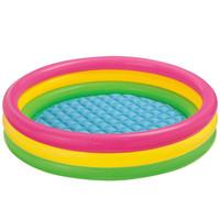 Kolam Anak Pelangi Sunset Glow Baby Pool 3 Ring 86cmx25cm MIRIP INTEX - TANPA POMPA