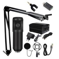 paket phantom mic mikrofon kondenser studio rekaman karaoke stand