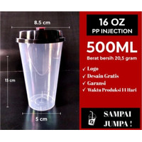 CUP PP INJECTION 16 OZ / Gelas Plastik Boba Cheese Tea TEBAL
