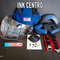 Busa Helm + Kaca Helm INK CENTRO, Baut Nut, Lis karet helm, tali helm