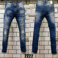 Celana panjang jeans GUESS import Premium Light blue Tapered style new