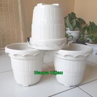 Pot Bunga/pot tanaman/pot plastik nurseri putih
