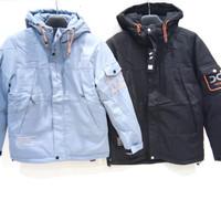 Jacket Pria Import Jaket Tebal Parasit Topi - Mario Zegnoti (#9266) - Hitam, XL