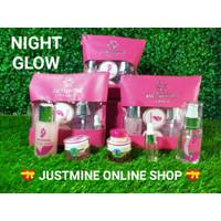 JUSTMINE BEAUTY GLOWING + ACNE JELLY/CANTIK/DAYCREAM/NIGHT CREAM - NIGHT GLOW