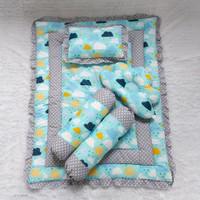 Bedding set rumbai-bedcover bayi-selimut bayi-bantal guling bayi-awan