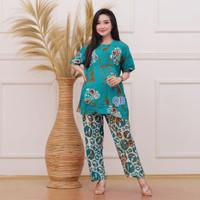 Setelan Batik Kulot Celana Panjang Wanita