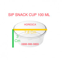 Cup Puding / Snack Cup SIP 100 ML + Tutup Dome Tanpa Lubang @50 Pcs