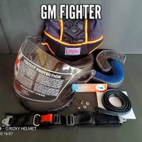 Kaca Helm GM Fighter + Busa Helm GM FIGHTER, Tali Helm + Lis Karet