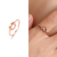 Cincin Simpul Wanita Rose Gold Perhiasan Aksesoris Ring Kado Hadiah