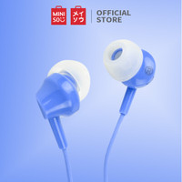 MINISO Earphone Headset Earbud Headphone In-Ear Mic Peredam Bising - Biru