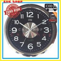 Jam Dinding Chrome Besar 40 cm elegant high quality Stylo 4075-1