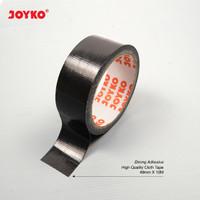 Cloth Tape Lakban Kain Warna Hitam Joyko 48 mm x 12 meter Orange Core