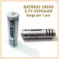 Baterai 18650 / Baterai Senter Police4200 mAh 3.7 V SUOER