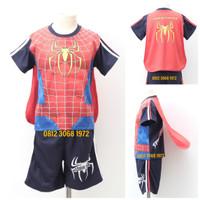 Setelan Pendek Superhero Anak Spiderman Ada Sayap Spider Man