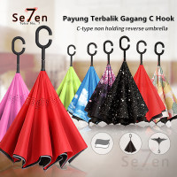 Payung Terbalik C Kazbrella Peralatan Hujan Gagang C Hook