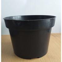 Pot Bunga Plastik 25 cm Pot Hitam Pot Tanaman Pot Plastok 25 cm