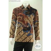 Kemeja Batik Tulis Pria Lengan Panjang Tulis Asli Solo Premium Furing - LP13289 Size L