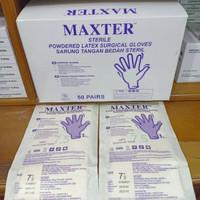 Satu Box - Sarung Tangan Bedah Steril Maxter - 7 - 7.5