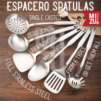 ESPACERO Single Casted No Joint Stainless Steel Spatula Kitchen Sutil