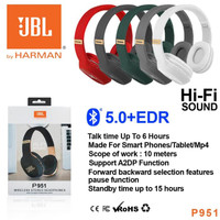 Palagada Headset Headphone Bluetooth Wireless JBL P951 - Merah
