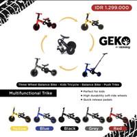 Geko 5 In 1 Balance Bike With Stick By Okiedog / Sepeda Anak Roda Tiga