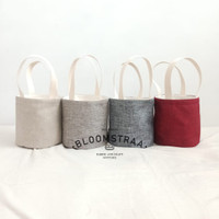 [ BURNET ] Hampers Bucket Bag Kanvas Tas Souvenir Satuan
