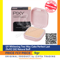 UV Whitening - Pixy - Two Way Cake Perfect Last Refill 02 Natural Buff