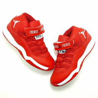 Sepatu Anak Nike Air Jordan 11 Red Grade Original