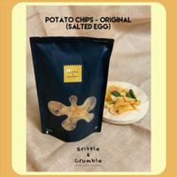 Keripik Kripik Kentang - Brittle Crumble - Potato Chips Salted Egg Ori