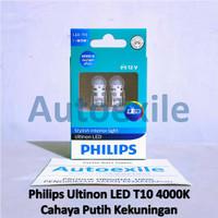 Philips Ultinon LED T10 W5W 4000K Daylight Warm White Lampu Senja