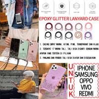 Casing HP Nagita Mama Gigi / Rope Necklace Lanyard - Glitter Case