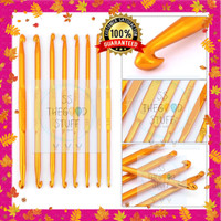 8pcs Double Point Hakpen/ Jarum Rajut / Crochet Hook Mirip