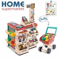 Home Supermarket 48pc Trolley NEW JUMBO BigSize Mainan kasir