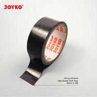 Cloth Tape Lakban Kain Warna Hitam Joyko 36 mm x 12 meter Orange Core