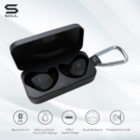 SOUL S-FIT True Wireless Earphones Waterproof Bluetooth v. 5.0 - Merah Muda