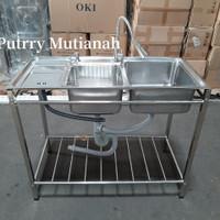 wastafel portable cuci tangan kitchen sink termurah bak cuci piring
