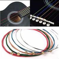 Unpacking colorful guitar strings/senar gitar warna warni kl6