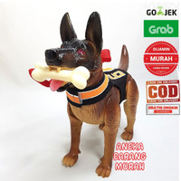 Mainan anjing herder polisi doggy defenders police dog robot guguk